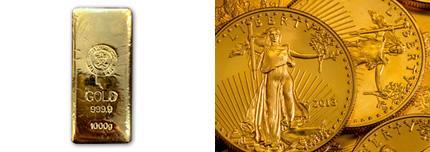 金やプラチナなどの貴金属製品、インゴット地金や金貨の買取