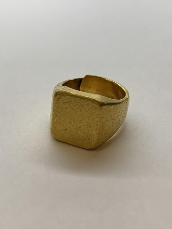 純金(24金)印台の指輪