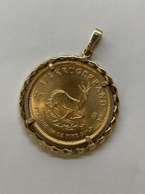 クルーガーランド金貨のコインペンダント