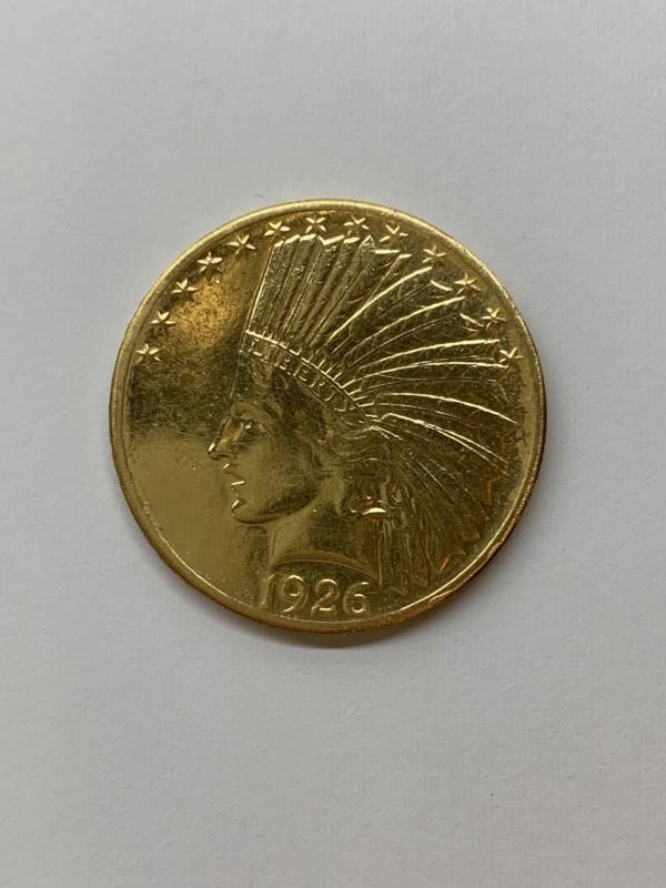 インディアン金貨 21.6金のインディアンコイン