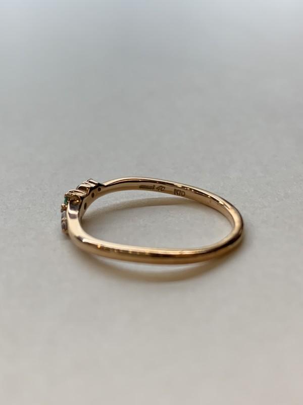 K10ピンクゴールドの4℃の指輪