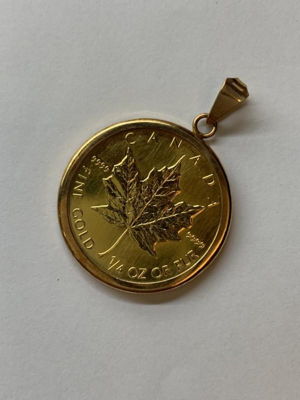 メイプルリーフ金貨のコインペンダント