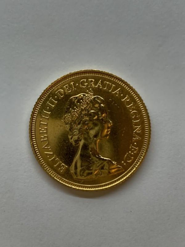 ソブリン金貨 エリザベスⅡ世の肖像