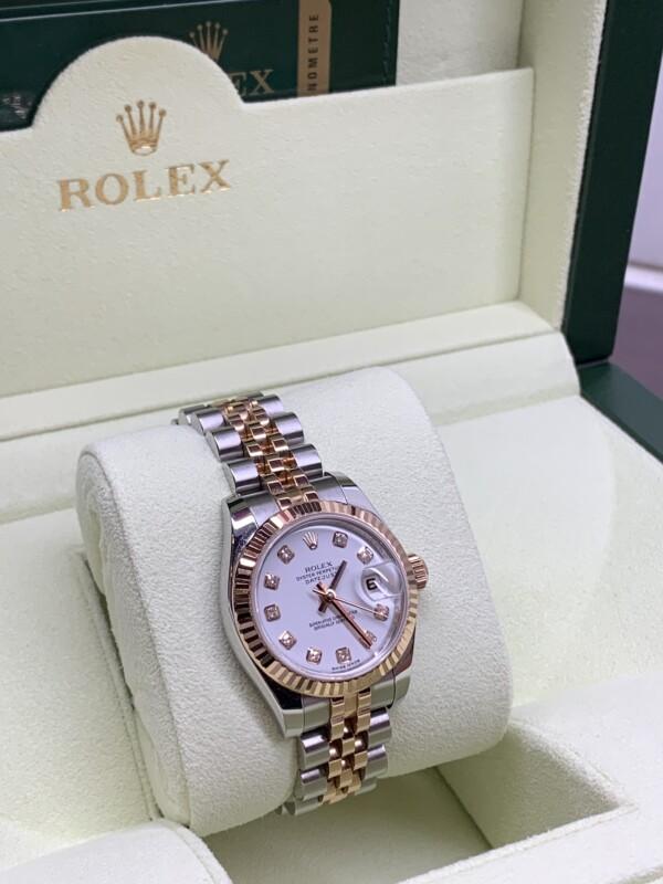 ロレックス179171G ピンクゴールド 白文字盤