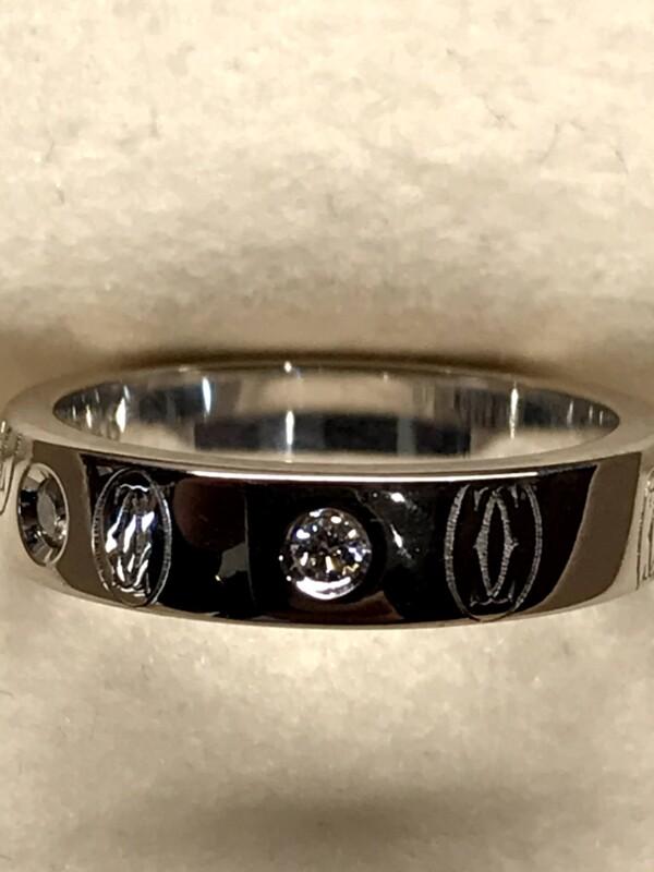 カルティエ ハッピーバースディーホワイトゴールドダイヤモンドリング