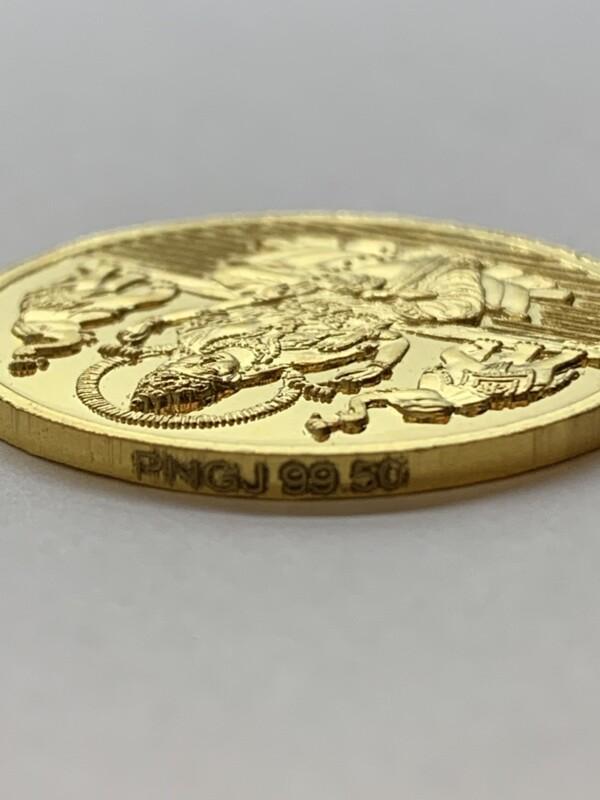 インドの金メダル 99.50の品位刻印