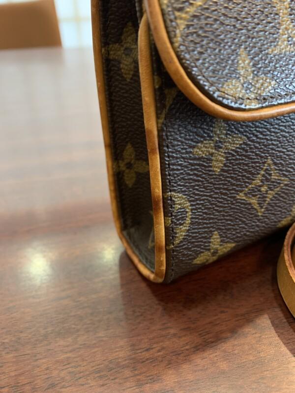 ポシェットフロランティーヌ ヌメ革のシミ