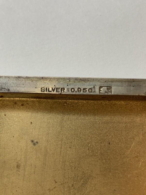 シガレットケースのセイコージュエリーの刻印