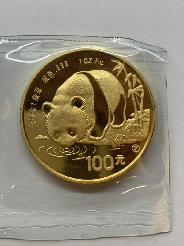 パンダ金貨1オンス 31.1g 100元