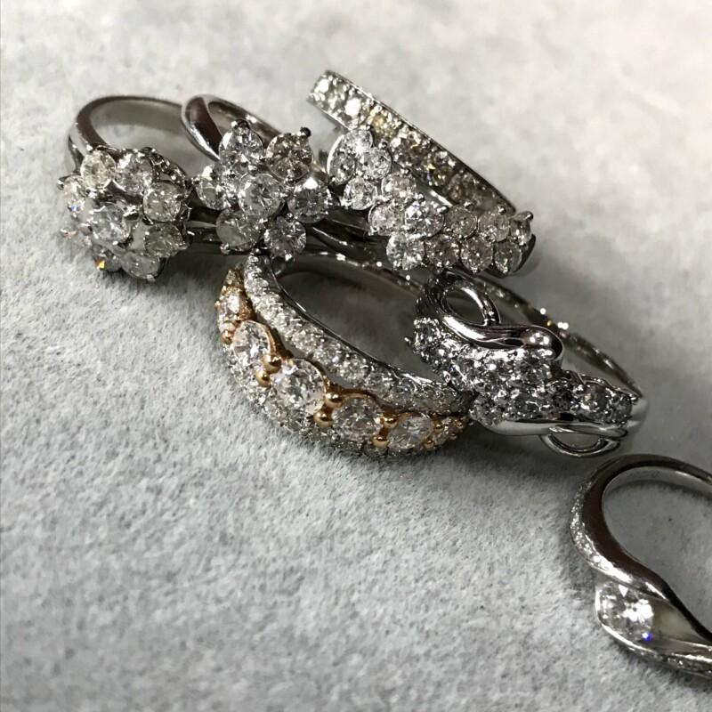 いろいろなダイヤモンドリング